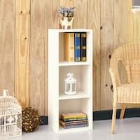 Wynwood Eco 3-Shelf Narrow Bookcase Storage, White LIFETIME GUARANTEE