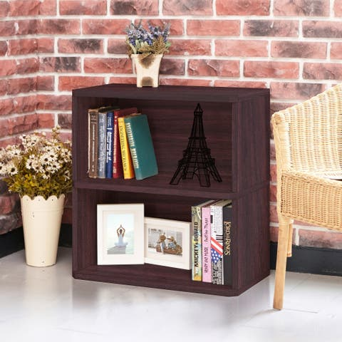 Webster Eco 2-Shelf Bookcase and Storage, Espresso LIFETIME GUARANTEE