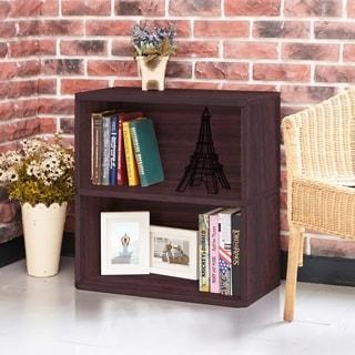 Webster Eco 2-Shelf Bookcase and Storage, Espresso LIFETIME GUARANTEE