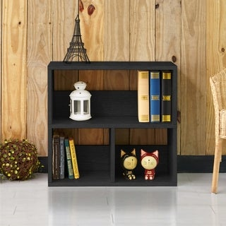 Collins Eco 2-Shelf Cubby Bookcase Storage, Black LIFETIME GUARANTEE