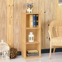Wynwood Eco 3-Shelf Narrow Bookcase, Natural LIFETIME GUARANTEE