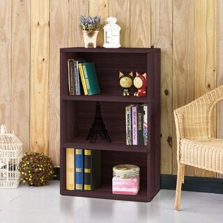 Trinity Eco 3-Shelf Bookcase and Storage, Espresso LIFETIME GUARANTEE