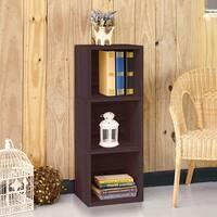 Wynwood Eco 3-Shelf Narrow Bookcase, Espresso LIFETIME GUARANTEE