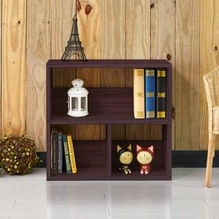 Collins Eco 2-Shelf Cubby Bookcase Storage,Espresso LIFETIME GUARANTEE