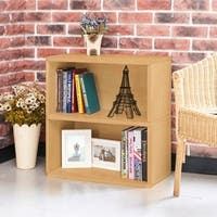 Webster Eco 2-Shelf Bookcase and Storage, Natural LIFETIME GUARANTEE