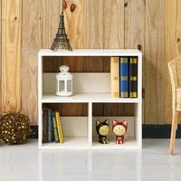 Collins Eco 2-Shelf Cubby Bookcase Storage, White LIFETIME GUARANTEE