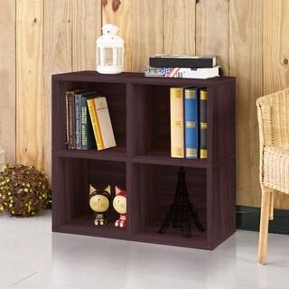 Clover Eco 4-Cubby Bookcase Storage, Espresso LIFETIME GUARANTEE