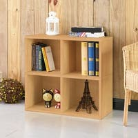 Shop Clifton Eco 4 Cubby Bookcase Storage Natural