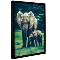 ArtWall Scott Medwetz 'Elephant Enchantment' Gallery-wrapped Floater-framed Canvas Wall Art