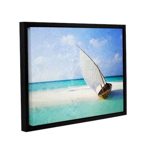 ArtWall Scott Medwetz 'Coco Cay Bahamas' Gallery-wrapped Floater-framed Canvas