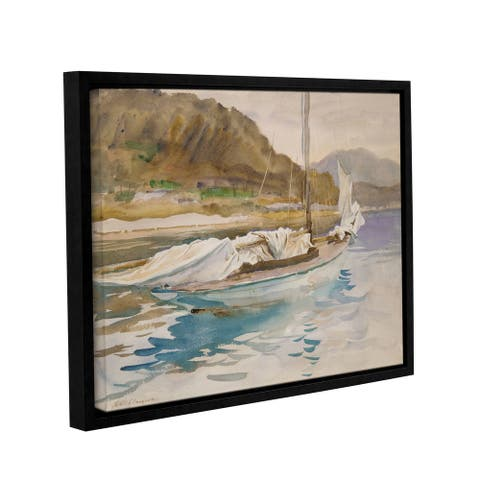 ArtWall John Singer Sargent 'Idle Sails' Gallery-wrapped Floater-framed Canvas