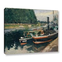 Bridgeman Camille Pissarro's 'Barges at Pontoise' Gallery Wrapped Canvas