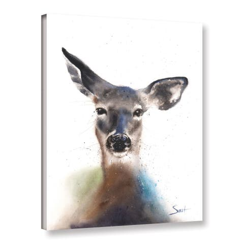 Eric Sweet's 'Deer Watercolor' Gallery Wrapped Canvas