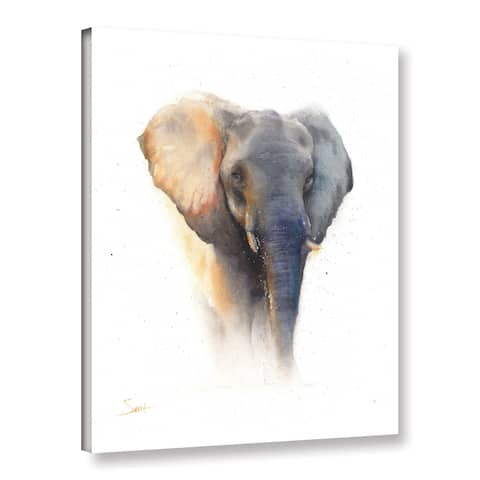 Eric Sweet's 'Elephant Watercolor' Gallery Wrapped Canvas