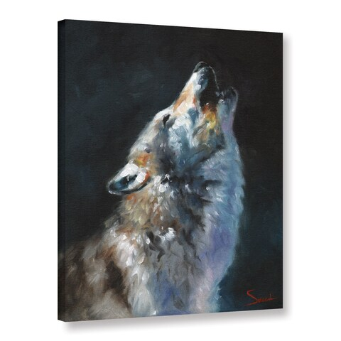 Eric Sweet's 'Wolf Howling' Gallery Wrapped Canvas