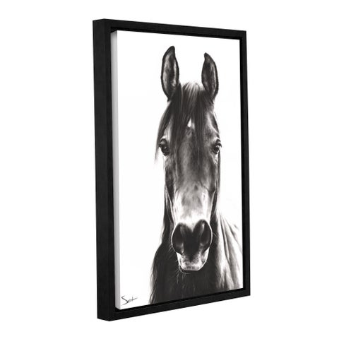 Eric Sweet 'Horse Portrait' Gallery-wrapped Floater Framed Canvas Wall Art