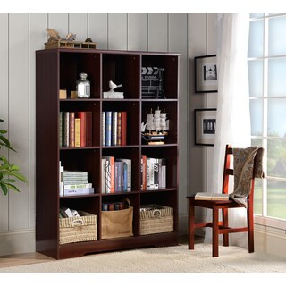 American Furniture Classics Large 12 Cube Storage Organizing Bookcase - Espresso
