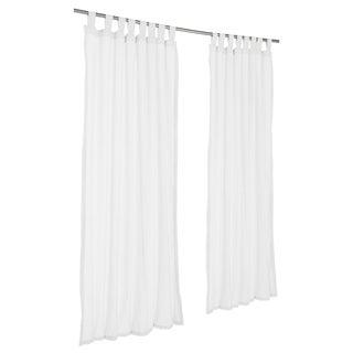 Pawleys Island Sunbrella Curtain - Sheer Snow