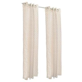 Pawleys Island Sunbrella Curtain - Fretwork Flax