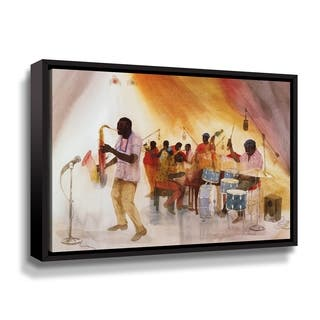 Porch & Den Jim Tanaka 'Take the A Train' Gallery Wrapped Floater-framed Canvas Wall Art