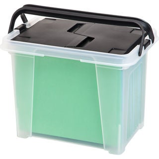 Link to IRIS Letter Size Portable Wing Lid File Box with Handles (Pack of 4) Similar Items in Filing Storage & Accessories