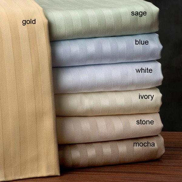 Egyptian Cotton Stripe 600 Thread Count Sheet Set