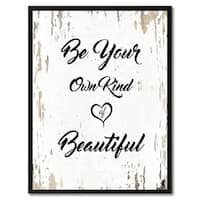 Be Your Own Kind Of Beautiful Inspirational Quote Saying Canvas Print Picture Frame Home Decor Wall Art