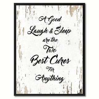 A Good Laugh & Sleep Are The Two Best Cures For Anything Quote Saying Canvas Print Picture Frame Home Decor Wall Art