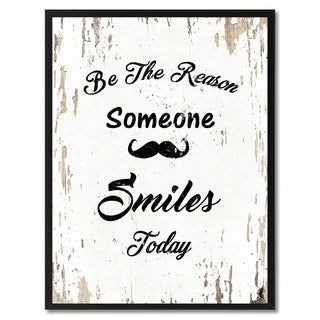 Be The Reason Someone Smiles Today Inspirational Quote Saying Canvas Print Picture Frame Home Decor Wall Art