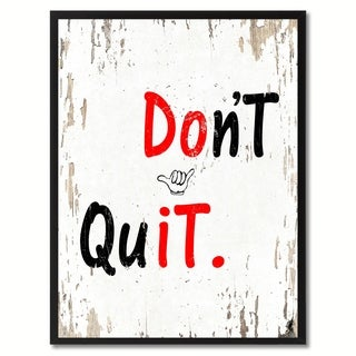 Don't Quit Motivation Quote Saying Canvas Print Picture Frame Home Decor Wall Art