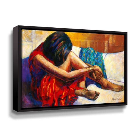 Porch & Den Monica Stewart 'Repose' Gallery Wrapped Floater-framed Canvas Wall Art