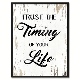 Trust The Timing Of Your Life Motivation Quote Saying Canvas Print Picture Frame Home Decor Wall Art