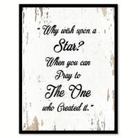 Why Wish Upon A Star When You Can Pray To The One Who Created It Saying Canvas Print Picture Frame Home Decor Wall Art