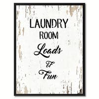 Laundry Room Loads Of Fun Quote Saying Canvas Print Picture Frame Home Decor Wall Art