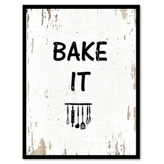 Bake It Saying Canvas Print Picture Frame Home Decor Wall Art