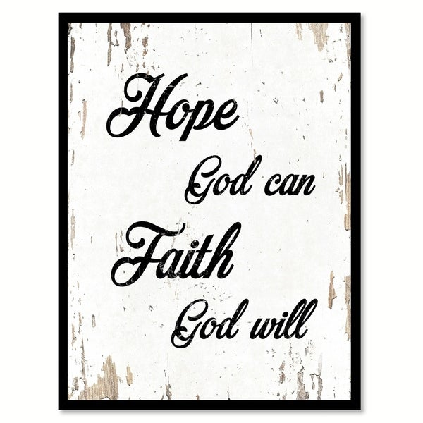 shop hope god can faith god will quote saying canvas print picture
