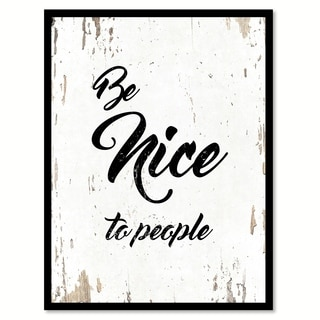 Be Nice To People Quote Saying Canvas Print Picture Frame Home Decor Wall Art