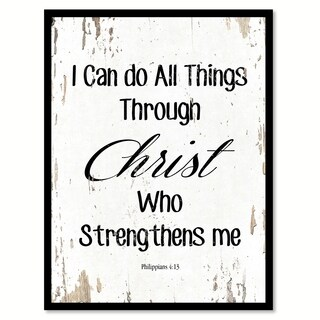 I Can Do All Things Through Christ Philippians 4:13 Saying Canvas Print Picture Frame Home Decor Wall Art (4 options available)
