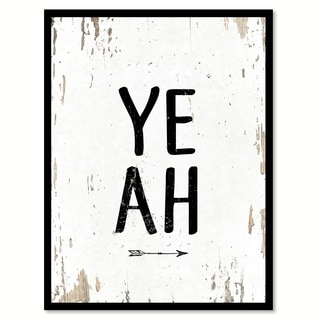 Yeah Funny Quote Saying Canvas Print Picture Frame Home Decor Wall Art