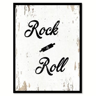 Rock & Roll Funny Quote Saying Canvas Print Picture Frame Home Decor Wall Art