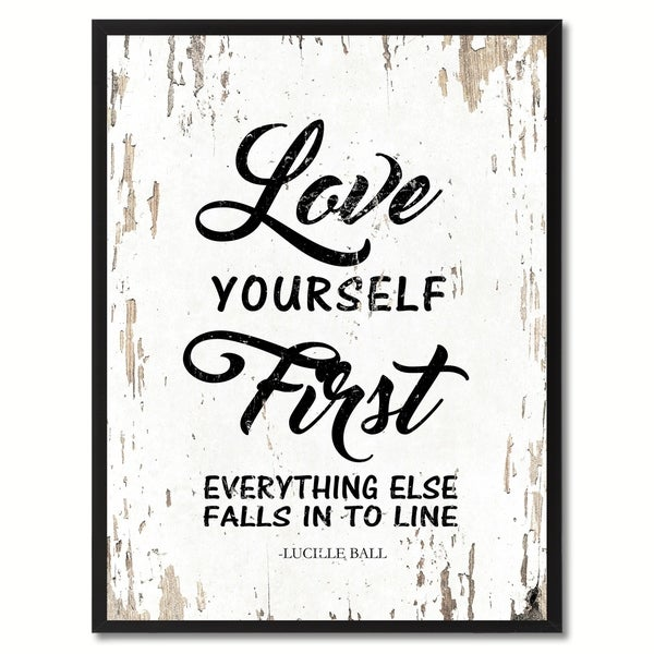 Love Yourself First Quotes Best Shop Love Yourself First Everything Else Falls Into Line