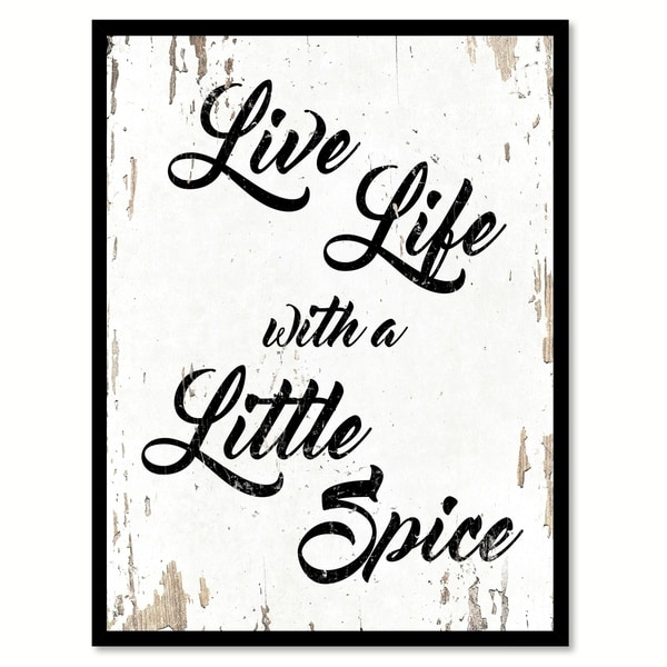Shop Live Life With A Little Spice Quote Saying Canvas Print Picture ...