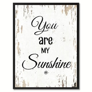 You Are My Sunshine Happy Quote Saying Canvas Print Picture Frame Home Decor Wall Art