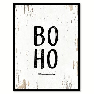 Boho Saying Canvas Print Picture Frame Home Decor Wall Art