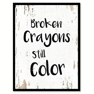 Broken Crayons Still Color Motivation Quote Saying Canvas Print Picture Frame Home Decor Wall Art