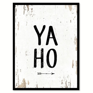 Yaho Funny Quote Saying Canvas Print Picture Frame Home Decor Wall Art