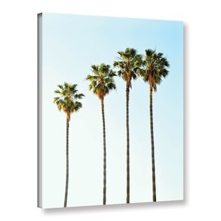 Tai Prints's 'Four Palm Trees' Gallery Wrapped Canvas