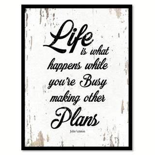 Life Is What Happens While You're Busy Making Other Plans John Lennon Saying Canvas Print Picture Frame Home Decor Wall Art
