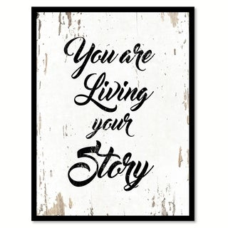 You Are Living Your Story Saying Canvas Print Picture Frame Home Decor Wall Art