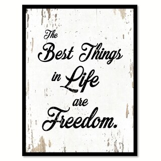 The Best Things In Life Are Freedom Saying Canvas Print Picture Frame Home Decor Wall Art